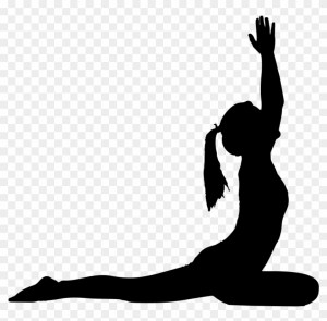 yoga silhouette pose clipart poses woman transparent female clip cliparts svg monochrome standing boy mbtskoudsalg gymnast pikpng webstockreview getdrawings sport
