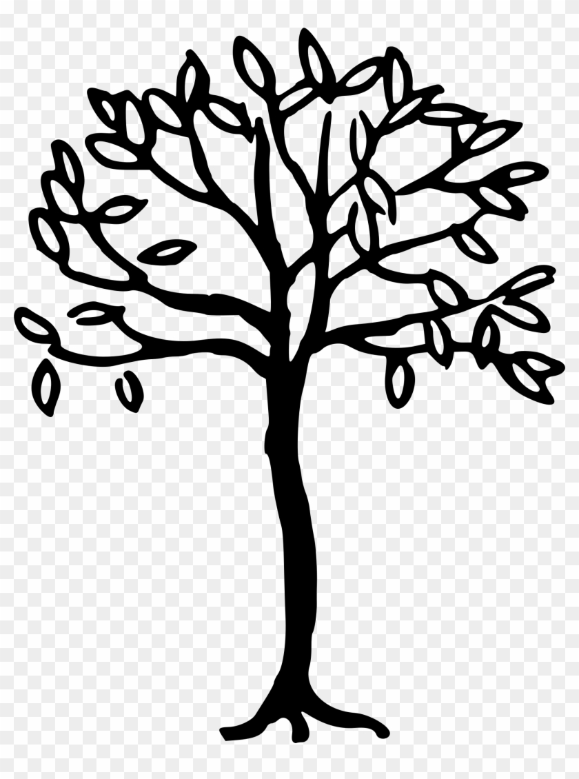 Simple Tree Clipart Black And White : simple, clipart, black, white, Black, White, Stock, Getdrawings, Drawing, Simple, Clipart, (#234653), PikPng