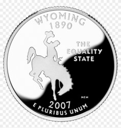 2007 Wy Proof Rev Wyoming State Quarter Clipart #2621273 PikPng