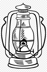 Oil Lamp Clipart Black And White Lantern Clipart Black And White Png Download #2704168 PikPng
