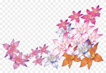 Bright Watercolor Flowers Watercolor Vector Flower Png Clipart #2715193 PikPng