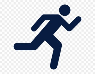 Original Png Clip Art File Running Icon On Transparent Person Running Clipart #2850174 PikPng
