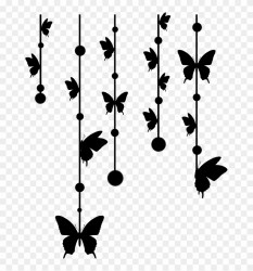 butterfly #silhouette #garland #black #beautiful #加工素材 Quick Clipart #3195533 PikPng