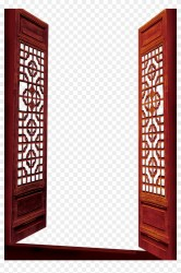 Chinese Open Door Png Clipart #3328147 PikPng