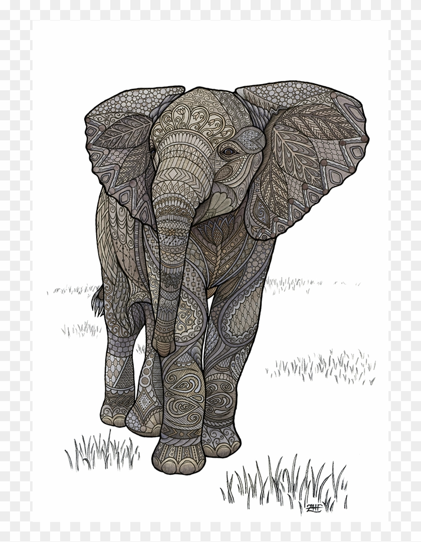 Indian Elephant Clipart : indian, elephant, clipart, Drawing, Elephants, Indian, Elephant, Clipart, (#3813991), PikPng
