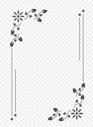 simple frame flowers border designs moldura clipart monograma quadro flores copyright pikpng complaint