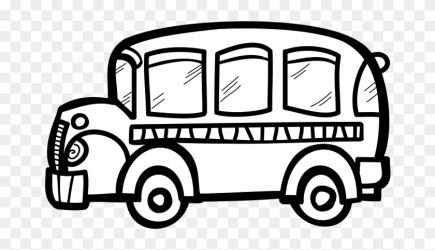 Free Black And White School Clipart Download Free Bus Black And White Clip Art Png Download #484980 PikPng