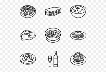 Italian Food Icon Food Vector Png Clipart #58290 PikPng