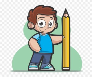 Boy Pencil Drawing School Student Person Teenager Cartoon Clipart #5409866 PikPng