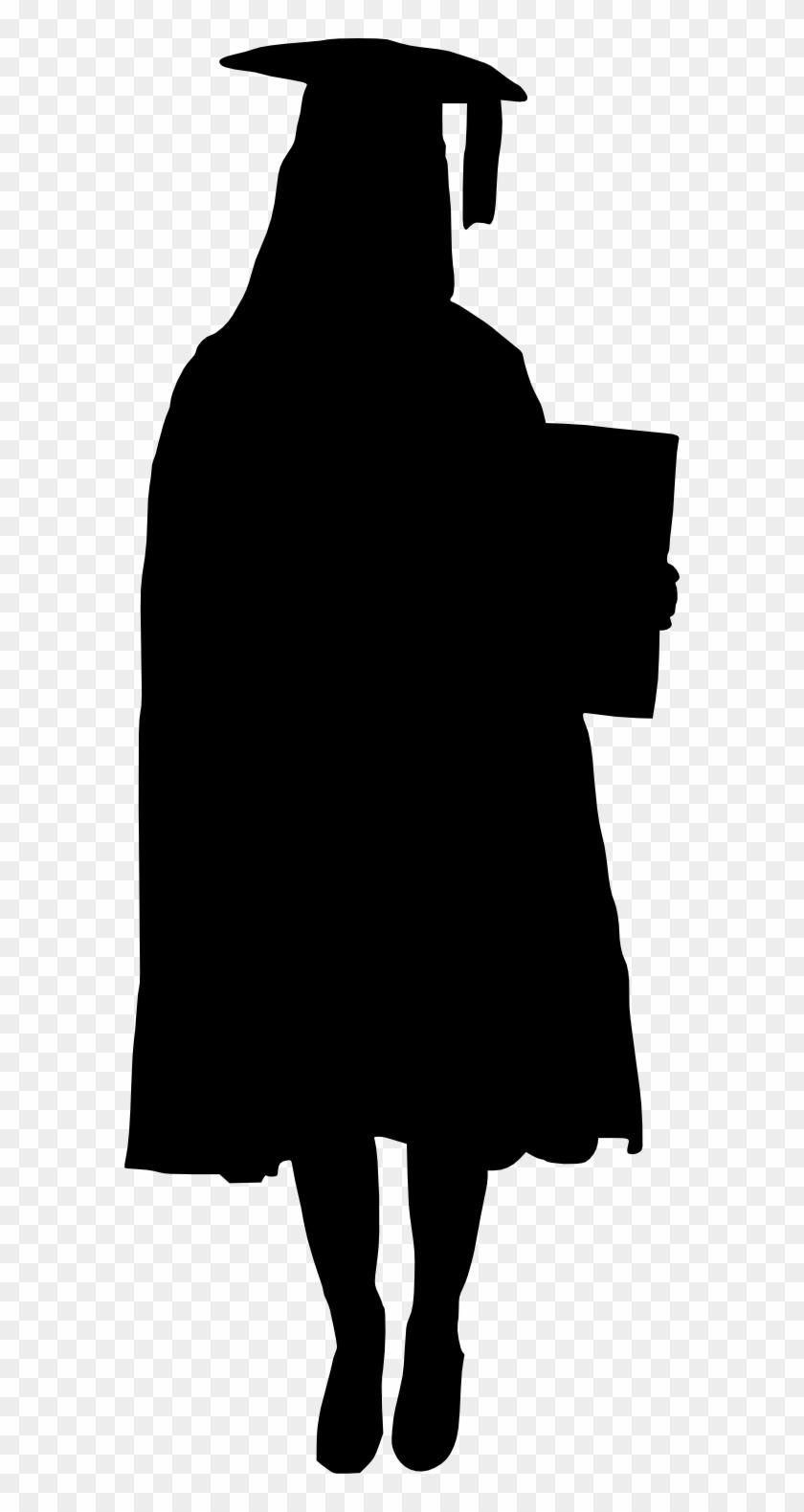 Graduation Silhouette Girl : graduation, silhouette, Graduation, Silhouette, Clipart, Transparent, (#556011), PikPng