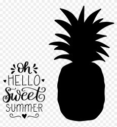 Clip Art Download Hand Lettered Sweet Summer Pineapple Transparent Pineapple Silhouette Png #600054 PikPng