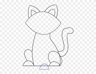 How To Draw A Simple Cat Easy Drawing Clipart #677660 PikPng
