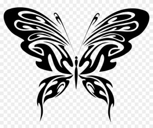 Jpg Freeuse Library Clipart Butterfly Black And White Black And White Butterfly Cartoon Png Download #816260 PikPng