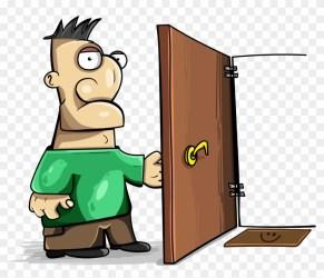 Cartoon Door Png Man Open Door Png Clipart #844897 PikPng