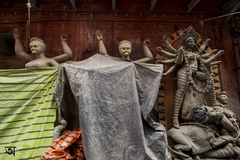 Durga idol - Kolkata Kumortuli 5
