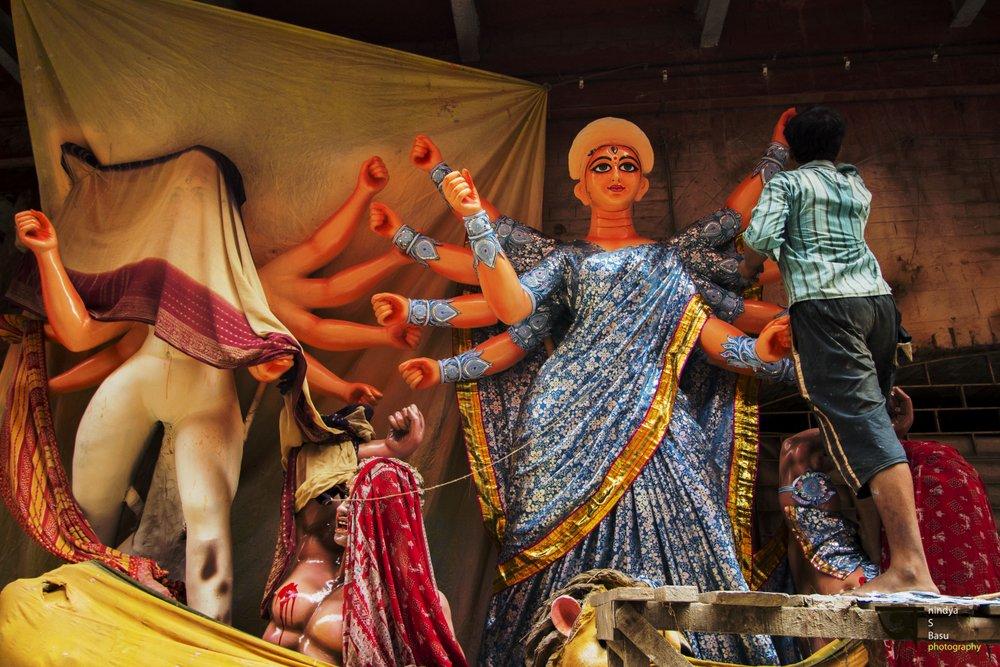 Durga idol- Kolkata Kumortuli 4