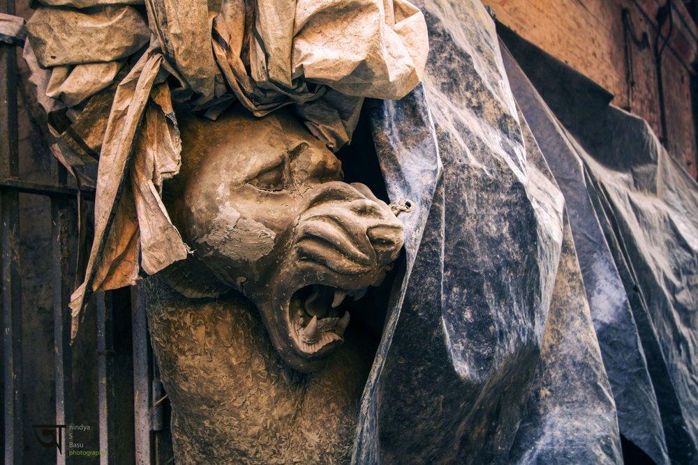 Durga idol Kolkata Kumortuli 2