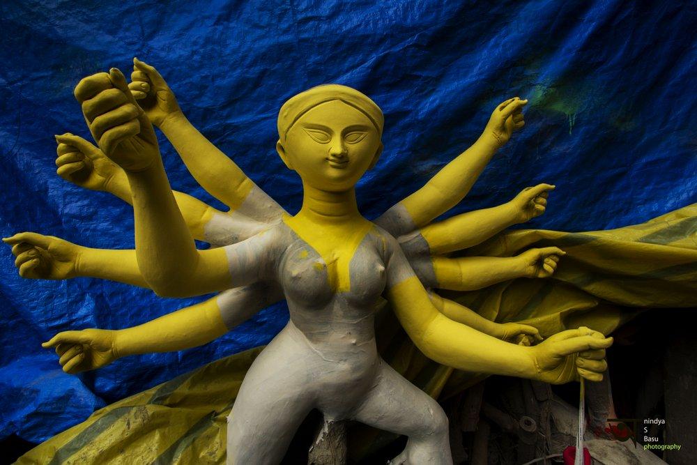 Durga idol - Kolkata Kumortuli 6