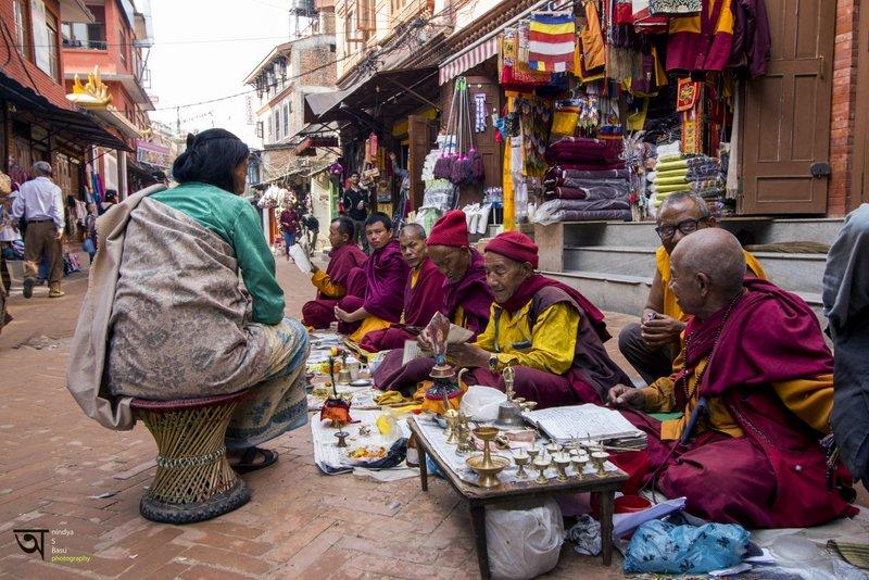 Seven Monks Boudhanath Kathmandu