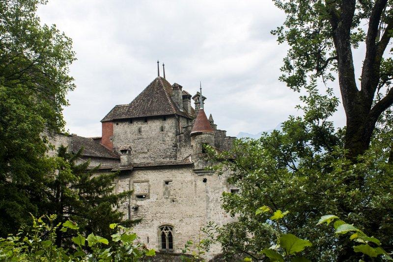 Chateau de Chillon distant view Montreux