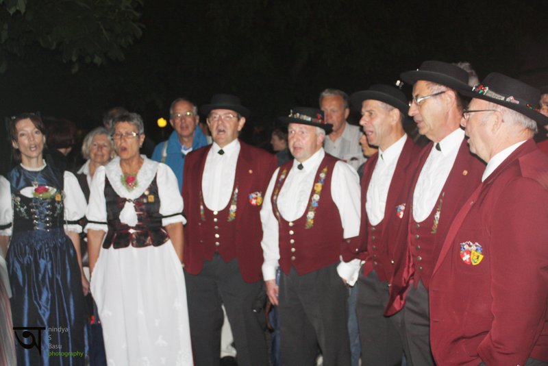Yodeling in Yodeling festival Interlaken Switzerland