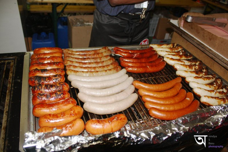 Sausages Grilling In Yodeling Festival Interlaken 2