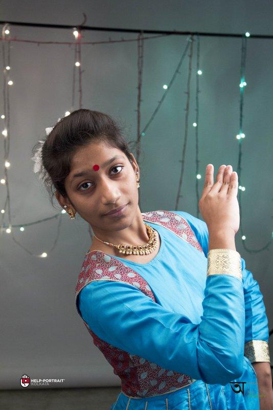 Help Portrait kolkata 2014 Behind the scenes with Barsha the Kathakali dancer