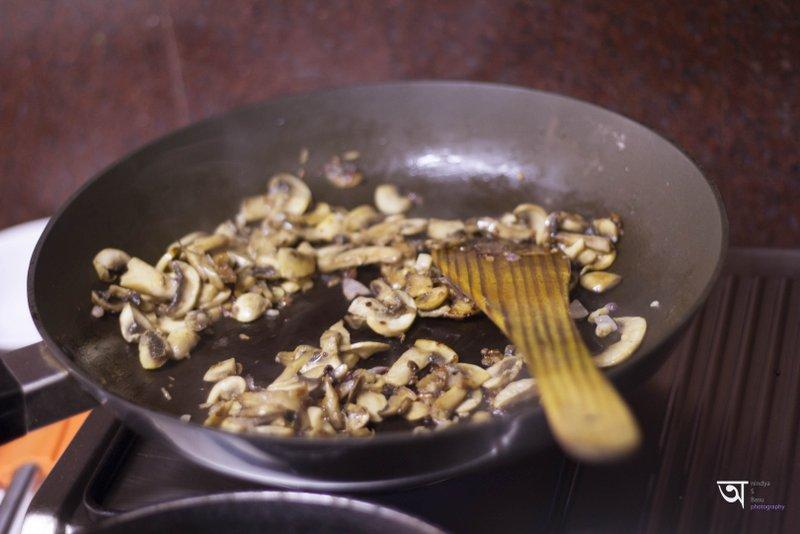 Mushrooms getting prepared for Flurys All day Breakfast