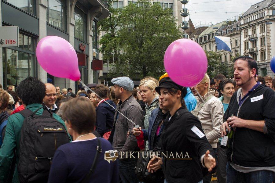Zurich Bahnhofstrasse LGBT Parade the parade