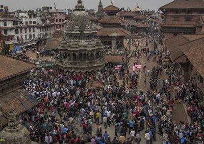 Durbar Square Patan Rato Machhendranath festival in Kathmandu Nepal . Pictures by pikturenama