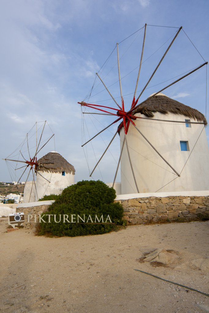 Goodbye Kato Myloi - The windmills of Mykonos Greece by pikturenama