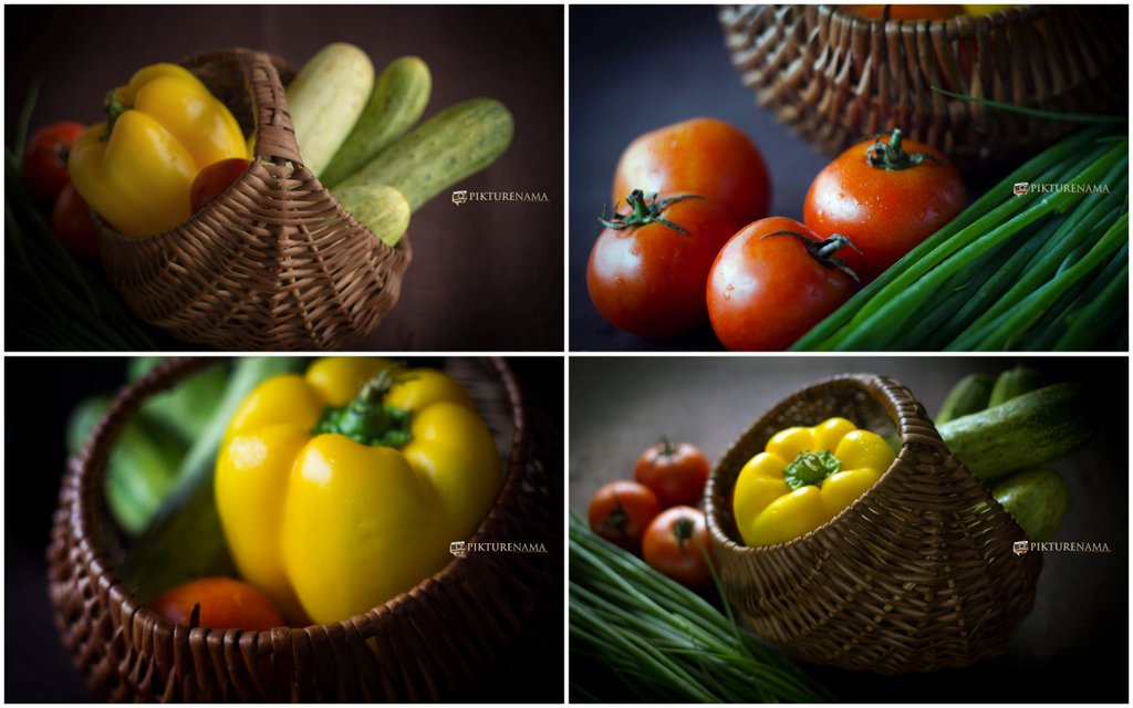 Collage of Raw produces