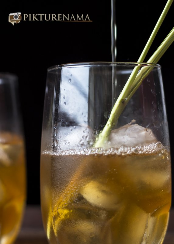 Iced tea with lemongrass and ginger by pikturenama when ready