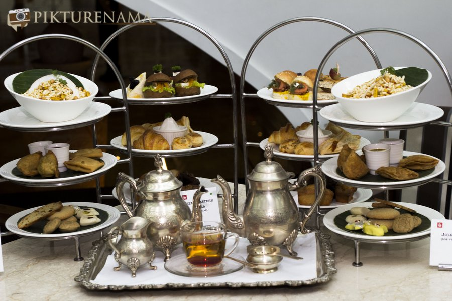 The Lalit Great Eastern Kolkata Tea Lounge the high tea spread