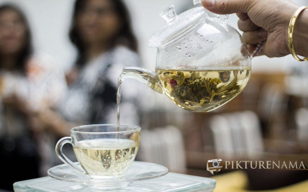 Pikturenama at The Lalit Great Eastern Kolkata Tea Lounge the blooming tea
