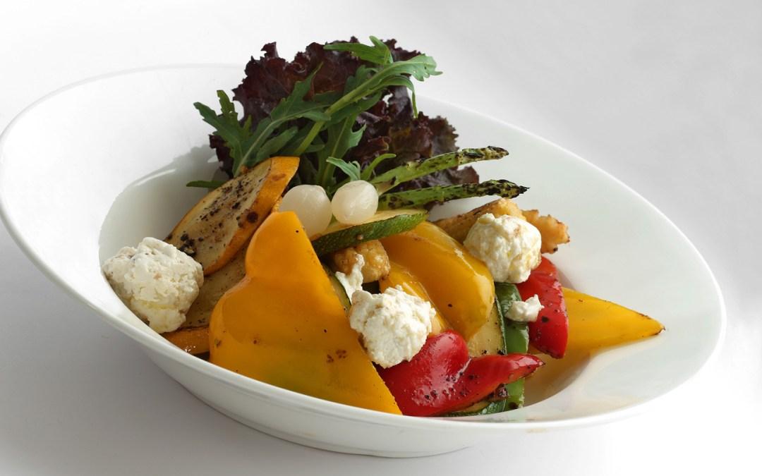 Mediterranean salad with Balsamic glaze at Casa Kitchen Kolkata Summer Time Soiree by Pikturenama
