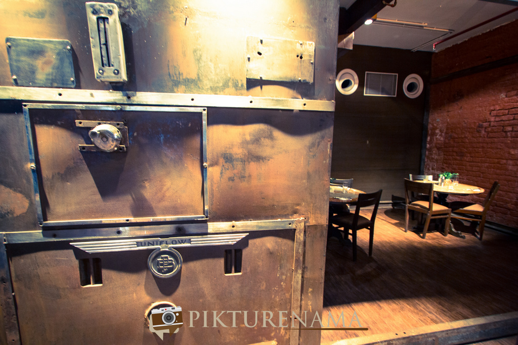 The old oven converted into private dining area The Lalit Great Eastern Bakery