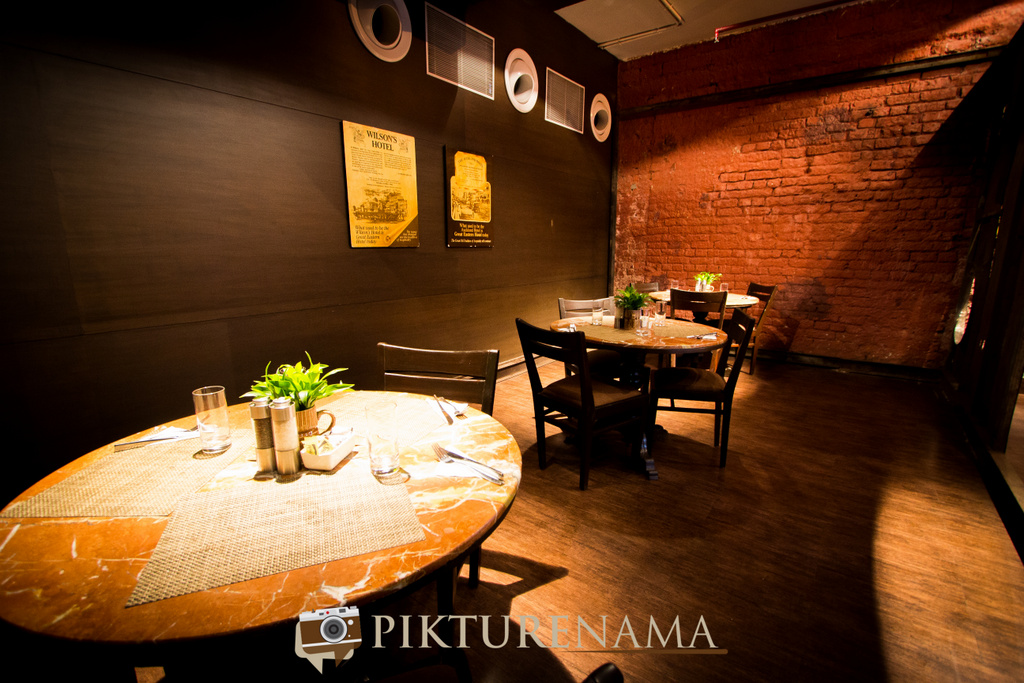 Inside the private dining area The Lalit Great Eastern Bakery