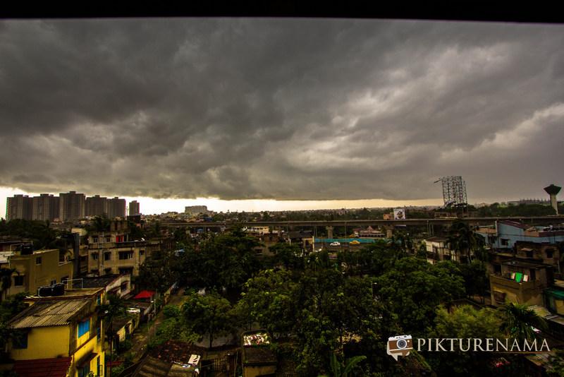 The huge clouds looming in