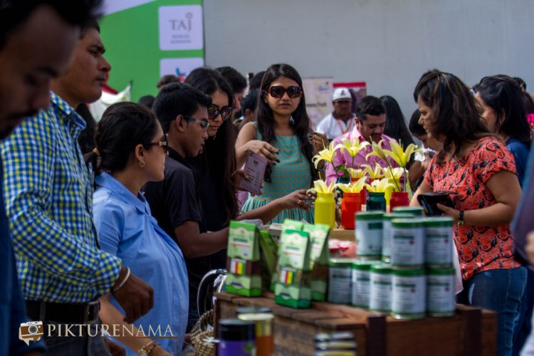 Market place at The farmers market kolkata by Karen Anand