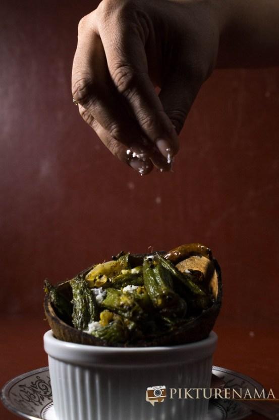 Aam Kasundi Bhindi or Okra in mango mustard sauce by Pikturenama 4