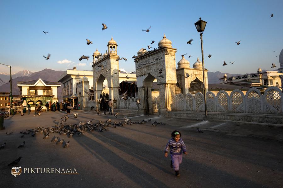 Hazratbal Srinagar the little kid