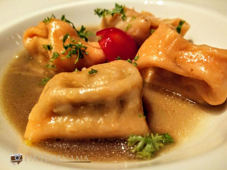 Italy on a plate Orange Ravioli