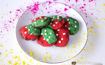 Colourful cookies and especial tiffin for the son
