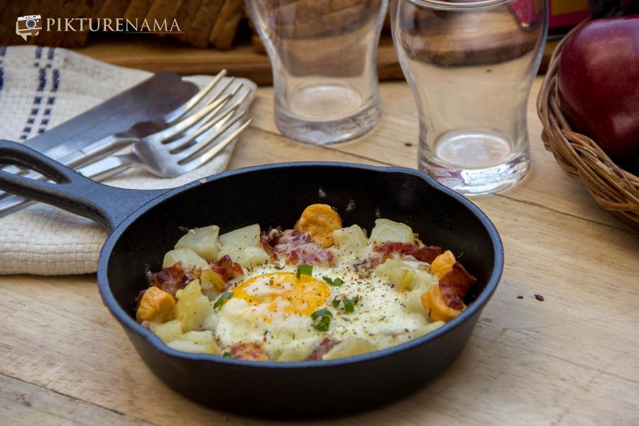 skillet baked eggs 3