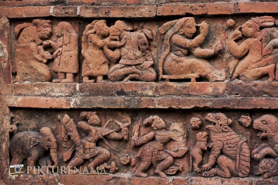 Bishnupur- Terracotta- work 4