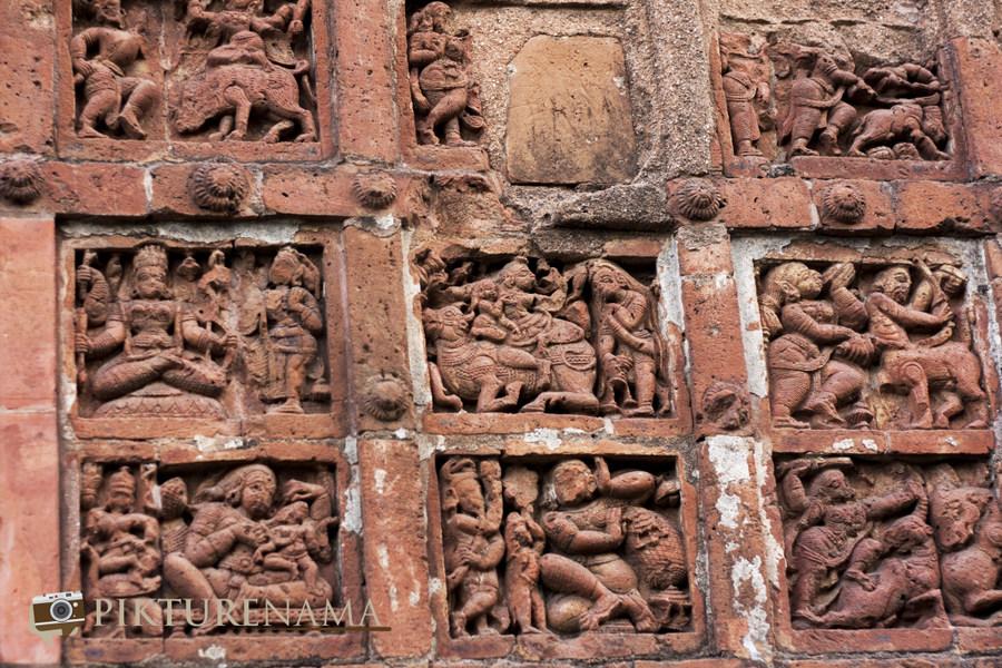 Bishnupur -terracotta Work