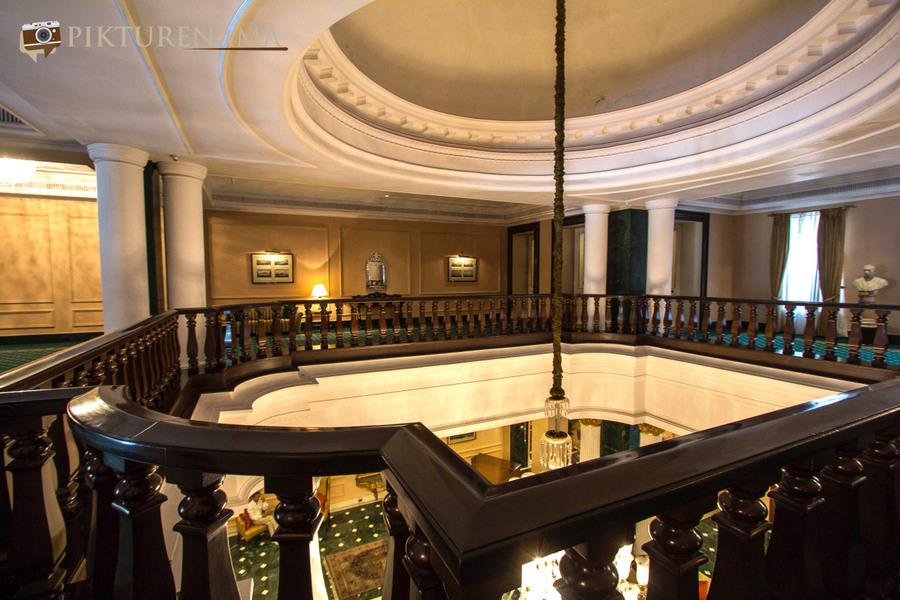 Oberoi Grand Kolkata above the lobby