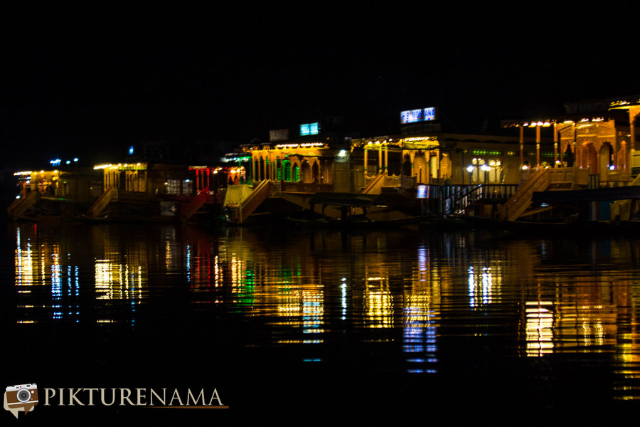 Kashmir Houseboat night - 1