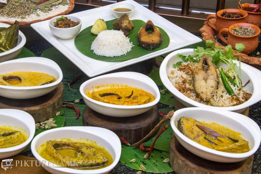 Bengal rajbari Ilish the entire display